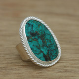 Chunky turquoise ring