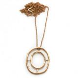 Rose gold window of destiny necklace