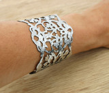 hammered lace cuff