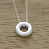 Mini organic circle necklace