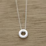 Mini organic circle necklace