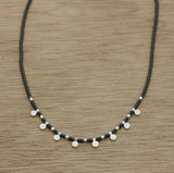 Hematite dot necklace