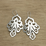 dangling scroll earrings