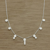 Teared dot necklace