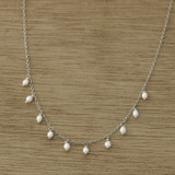dangling pearl necklace
