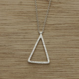 Ripple triangle necklace