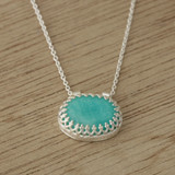 Clear blue necklace