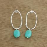 Seaweed blue earrings