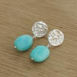 coral blue earrings
