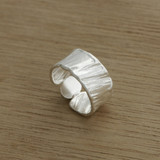 opal white wash ring  (one off design)
