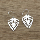 Leaf deco earrings
