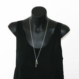Delicate tag necklace