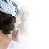 Wedding head piece + necklace