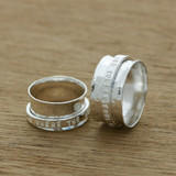 personalised spinning ring