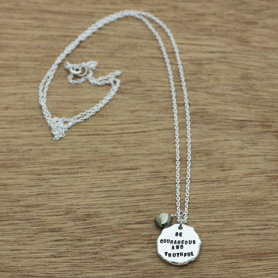 organic pebble necklace