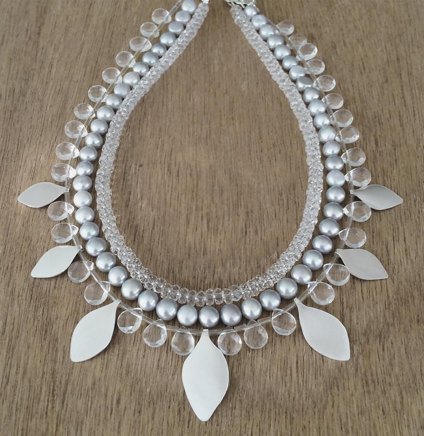 Gypsy leaf necklace