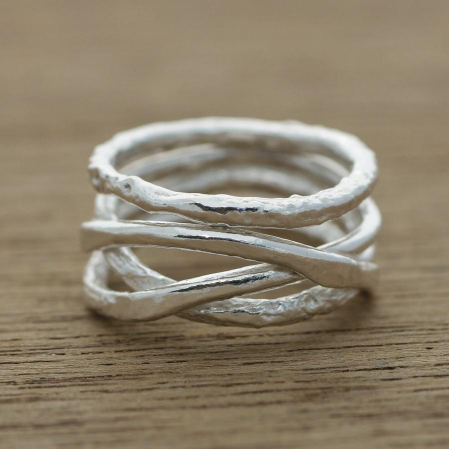 Organic wedding ring