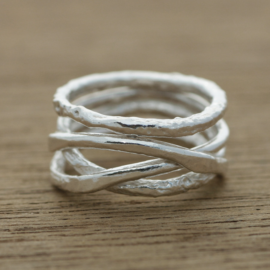 Organic wedding ring