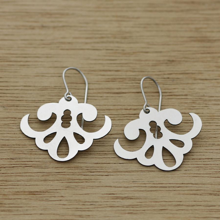 Sea scroll earrings