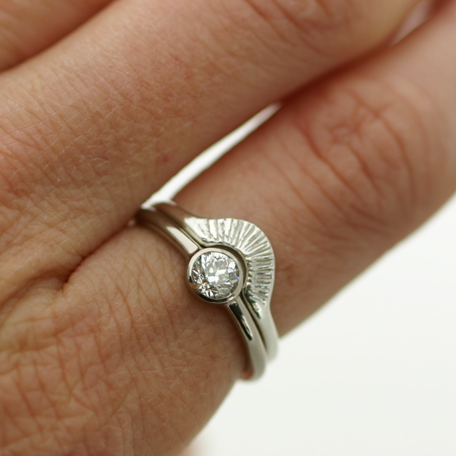 18ct white gold, diamond engagement ring