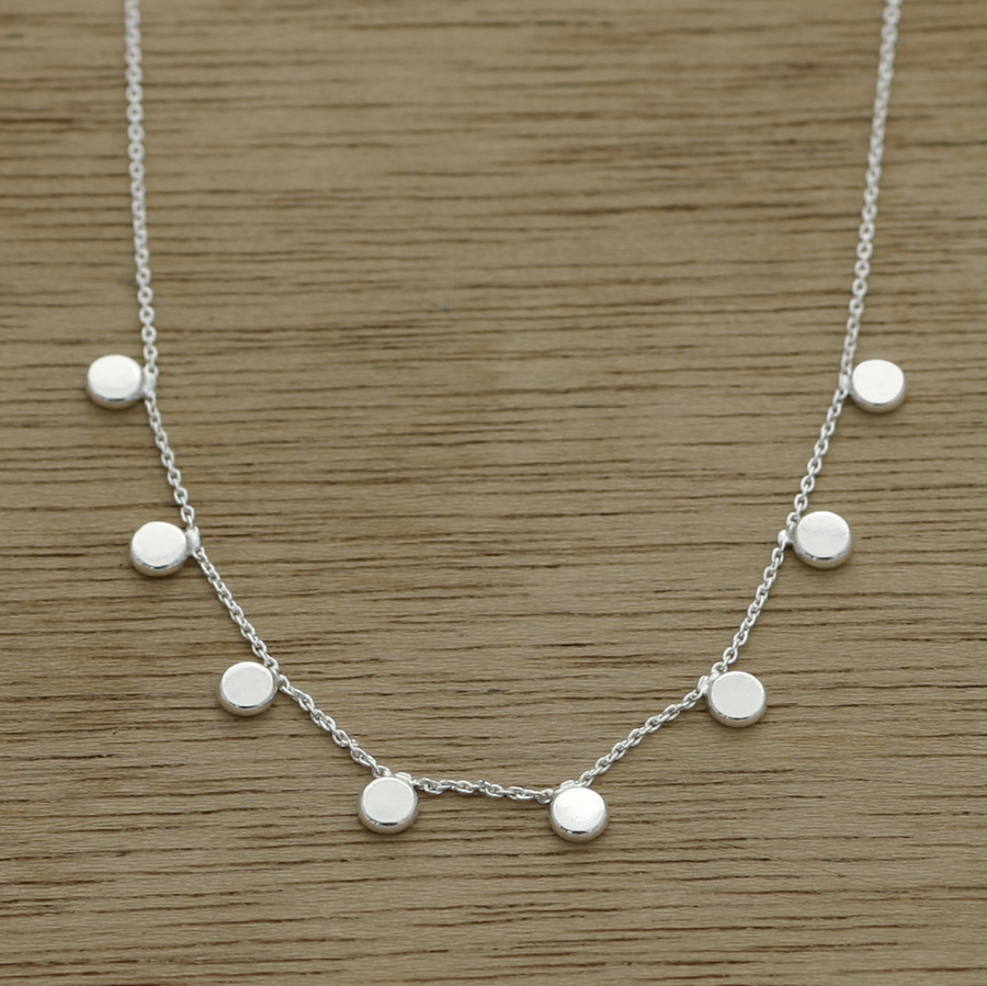 delicate dot necklace