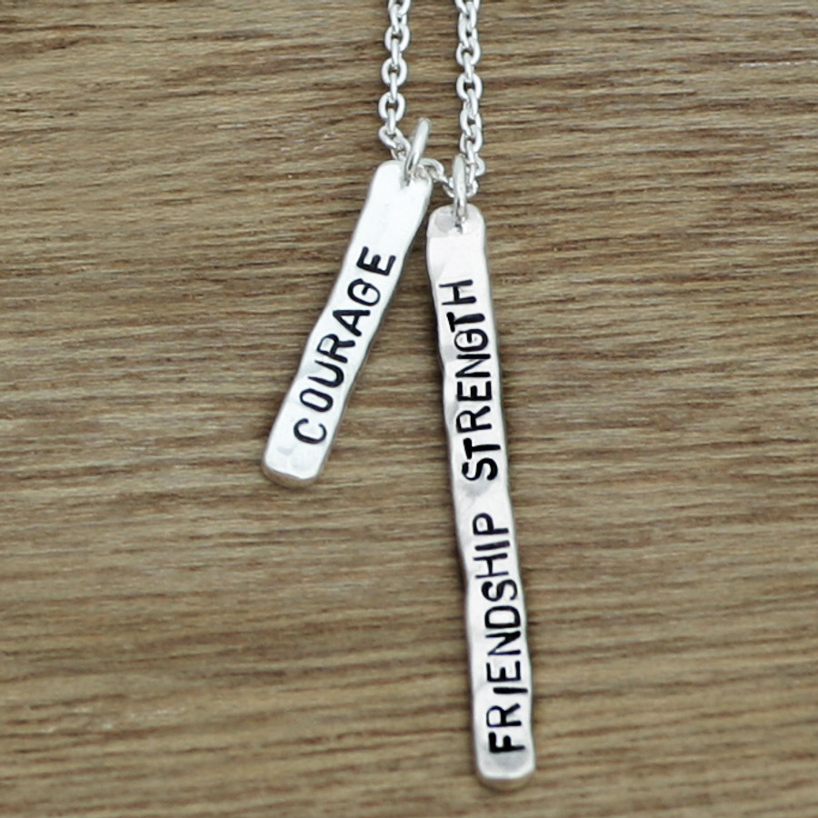 Delicate tag necklace