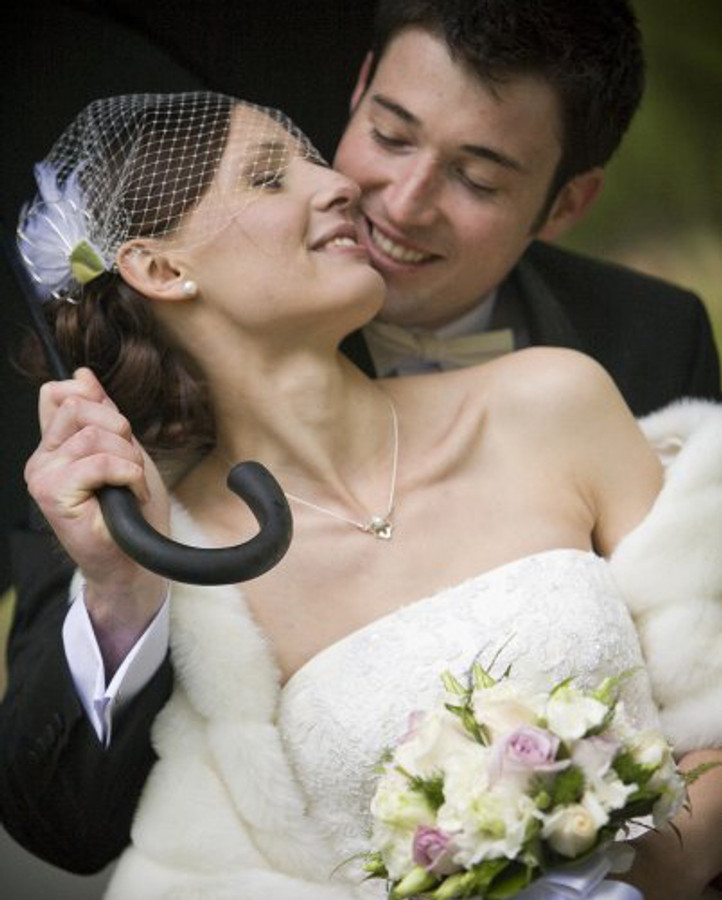 Wedding head piece + necklace