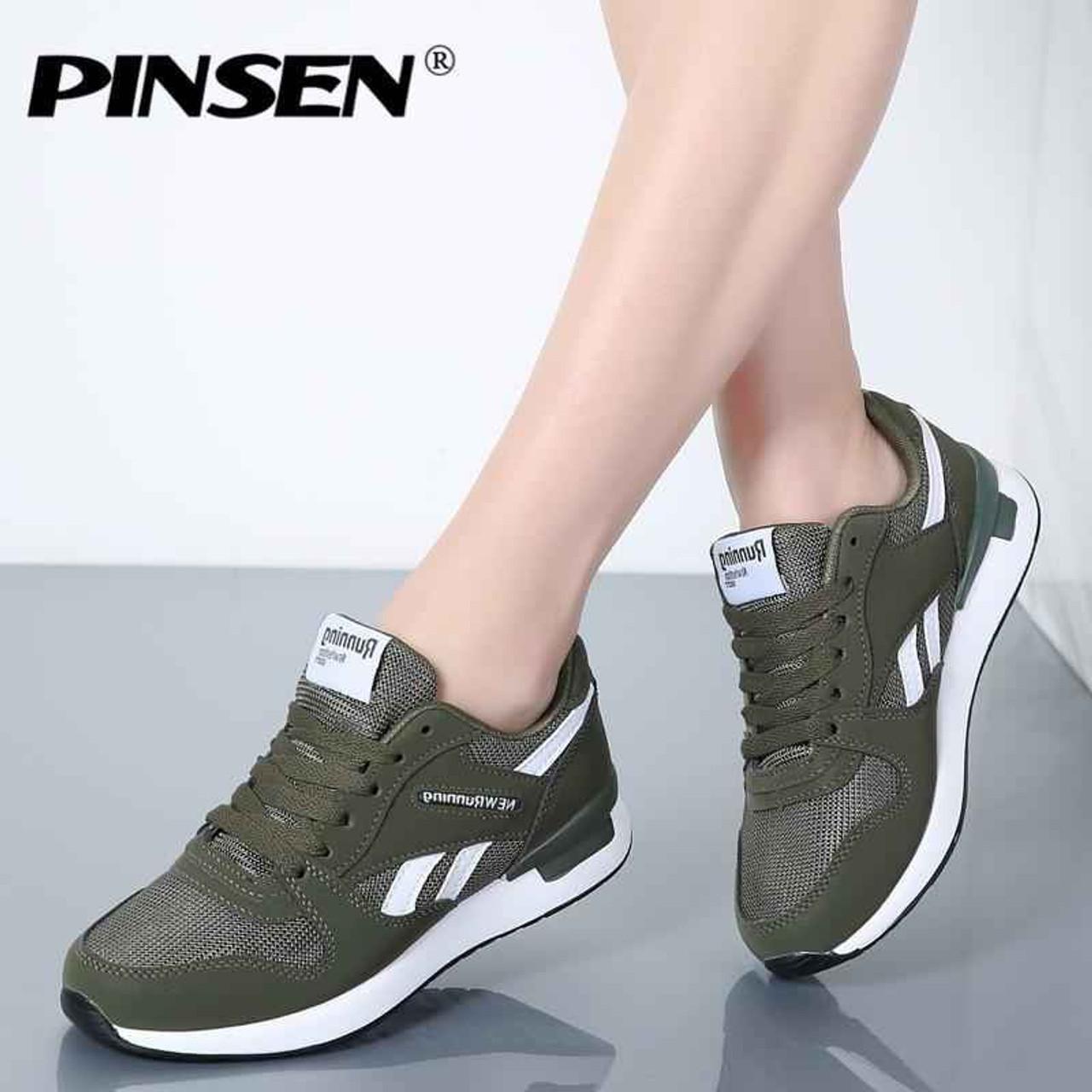 PINSEN Sneakers Women New Unisex Spring