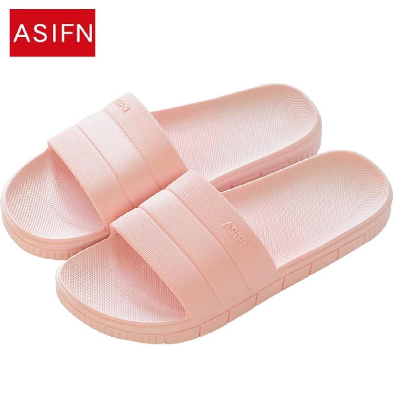 Men Women Summer Slippers Open Toe Sandals Soft Slip-on Home Casual Flat Shoes