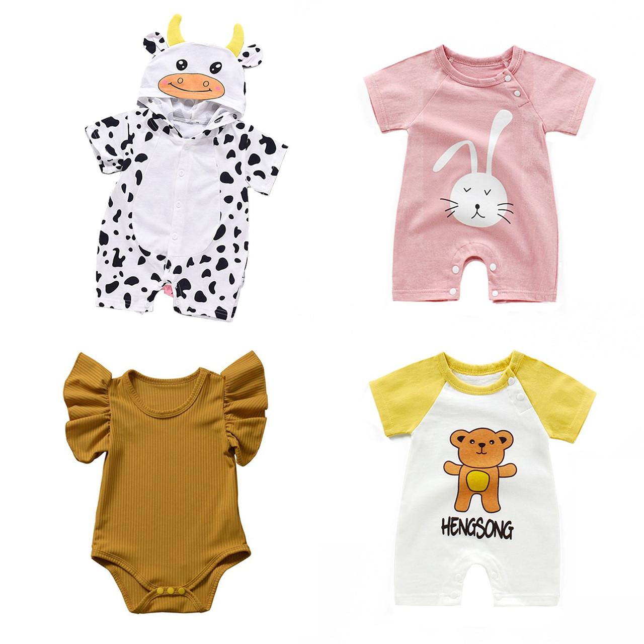 Toddler Baby Boy Girl Fox Tree Romper Summer Sleeveless Jumpsuit Clo EE/_ UK/_ FM