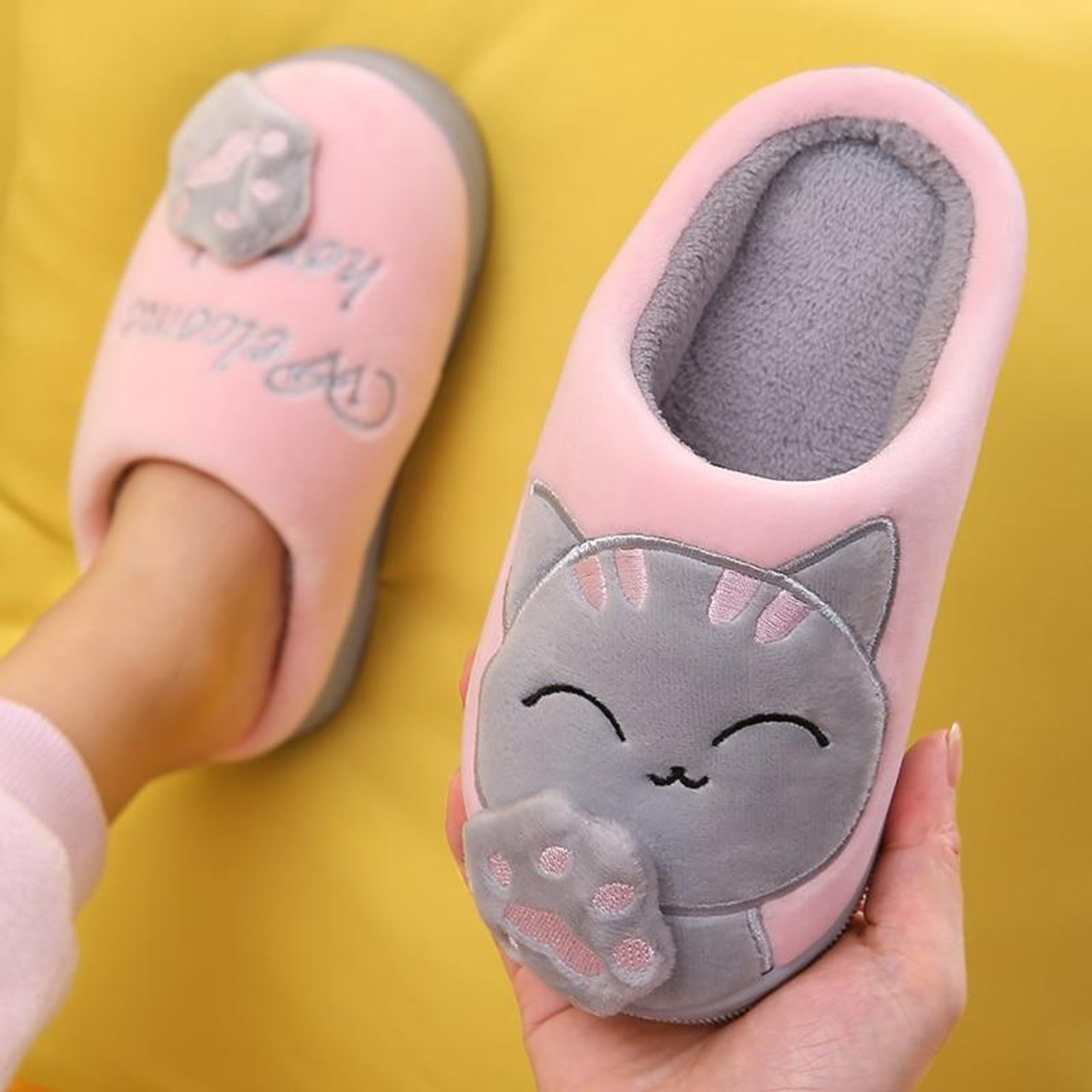 Boys Cartoon Slippers Kids Toddler  Winter Warm Anti-slip Indoor Shoes 1-6Y