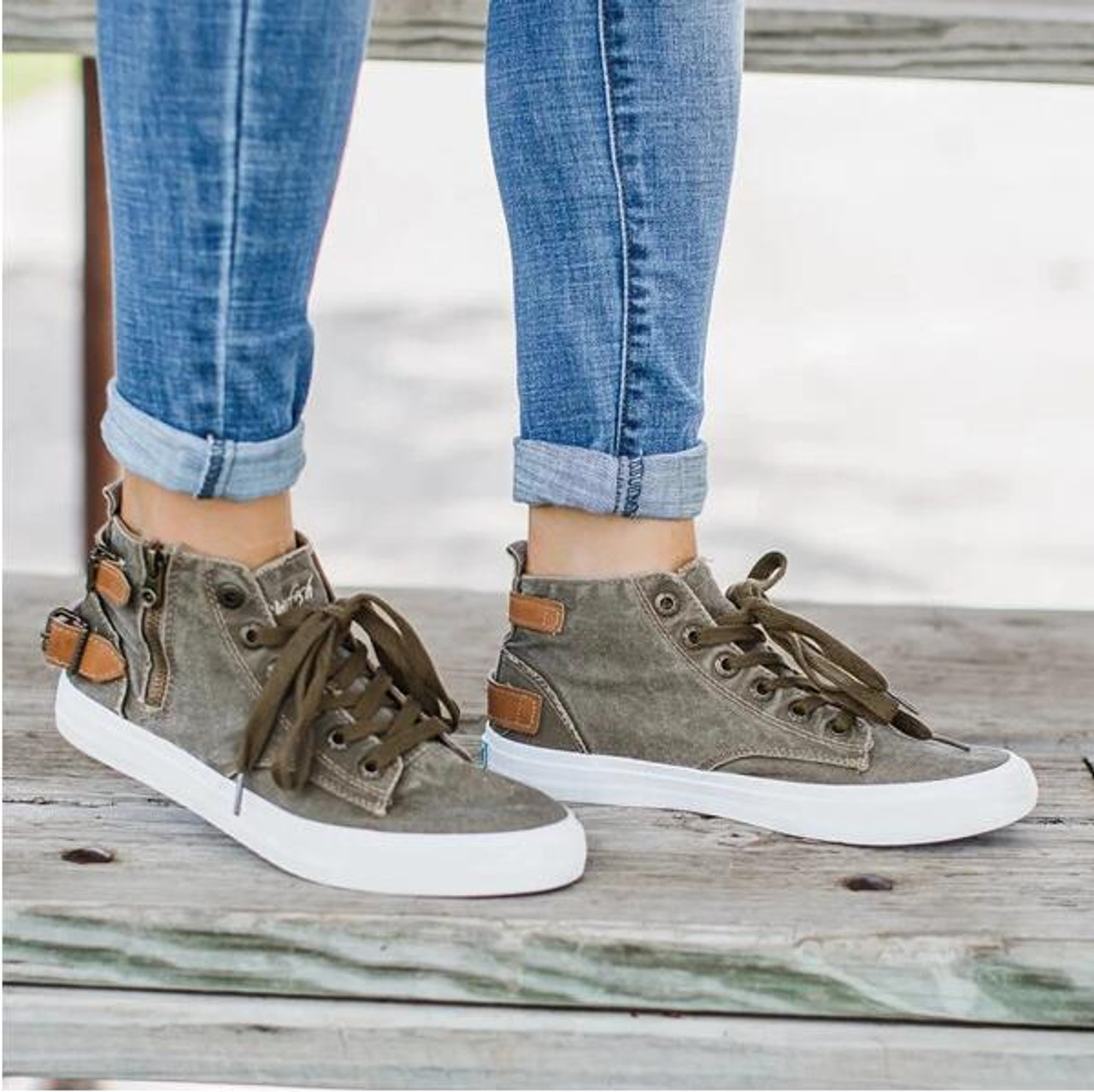 Women Shoes Zipper Canvas Casual Flat