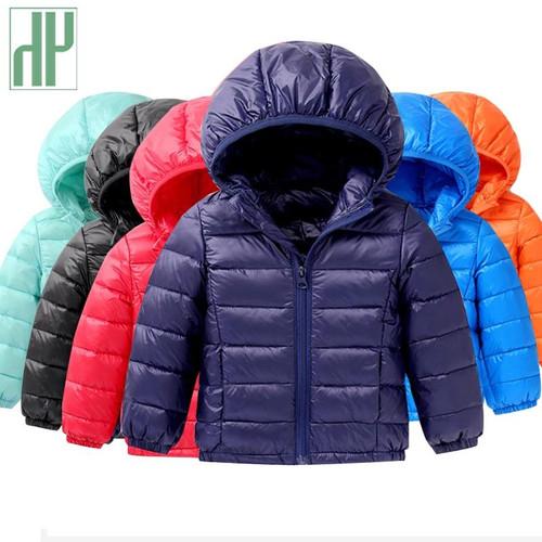 HH Spring/fall Light children's winter jackets Kids cotton Down Coat Baby jacket for girls parka Outerwear Hoodies Boy Coat - Joelinks store