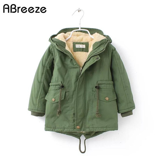 2019 New winter children down & parkas 2-9Y European style boys girls warm outerwear color green blue hooded coats for girls - Joelinks store