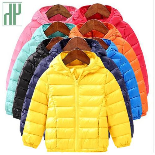 HH Baby Girls Boys Parka Light kids jacket hood cotton Down Coat winter children jacket spring fall toddler outerwear & coats - Joelinks store