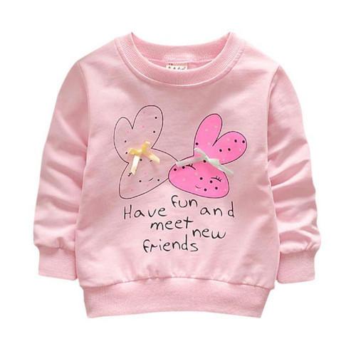 Baby Toddler Kids Girls Spring Autumn Shirts Hoodies Cotton Long Sleeve Winter Bottoming Shirts - Joelinks store