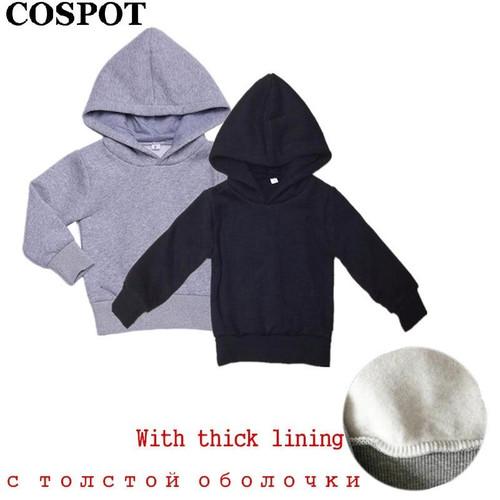 COSPOT Baby Boys  Hoodies Boy Sweatshirt Kids Plain Black Gray Outfits Tops Children Hoodie Boys Clothes 2019 New 30E - Joelinks store