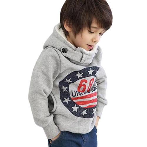 2019 Kids Baby Boys Hoodies Clothes Children Winter Thick Sweatshirts Toddler Casual Sweater Kids Plus velvet Tops Costume#H3B2 - Joelinks store