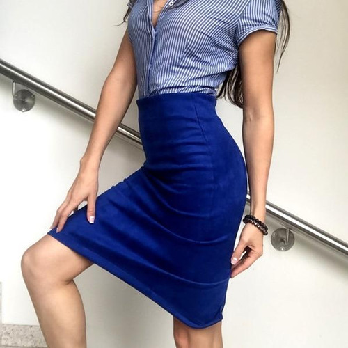 Women Skirts Pencil Skirt Female High Waist Vintage Suede Split Skirts Jupe Femme Faldas Mujer Plus Size Skirt - Joelinks store