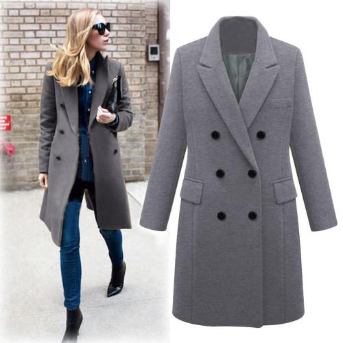 Plus Size 5XL Women Winter Long Coat Autumn Zipper Slim Outerwear Fashion Patchwork Black Female Warm Windproof Overcoats - Joelinks store