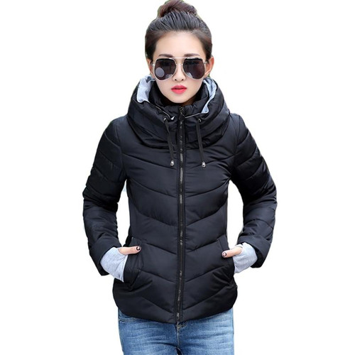 2019 new ladies fashion coat winter jacket women outerwear short wadded jacket female padded parka women's overcoat - Joelinks store