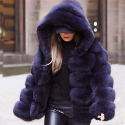 Women Faux Fur Jacket Winter Warm Coats 2018 Women Mink Coats Winter Hooded New Jacket Warm Thick Outerwear Jacket - Joelinks store