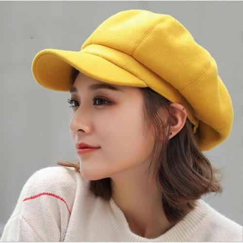 oZyc wool  Women Beret Autumn Winter Octagonal Cap Hats Stylish Artist Painter Newsboy Caps Black Grey Beret Hats - Joelinks store
