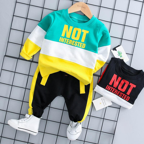 HYLKIDHUOSE 2019 Autumn Baby Girl Boy Clothing Sets Infant Clothes Suits Casual Sport T Shirt Pants Kid Child Clothes Suits - Joelinks store