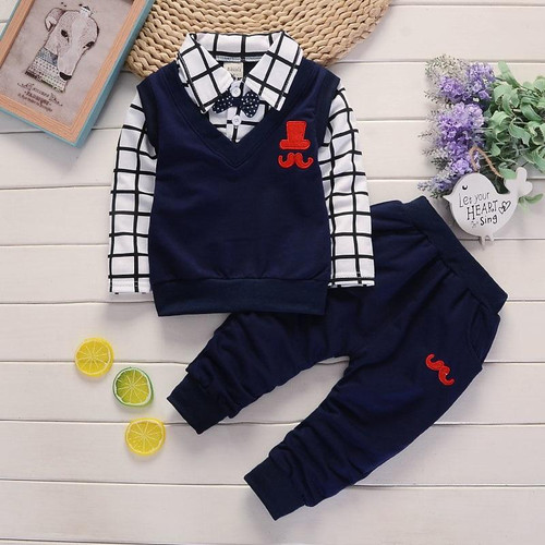 BibiCola spring autumn Baby Boy Clothes Set Children Clothing Sets Products Kids Clothes Baby Boys T-shirts+Pants 2PCS Tracksuit - Joelinks store
