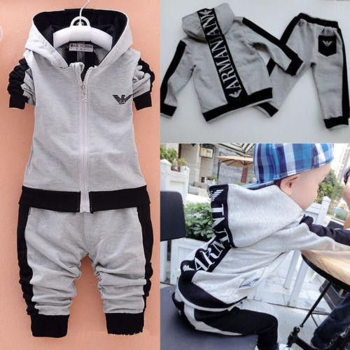 Kids Baby Boy Clothes Sets Casual Letter Printing Autumn Winter Outwear Sets Long Sleeves Tracksuit Top+Pant Outfits Hat Set - Joelinks store