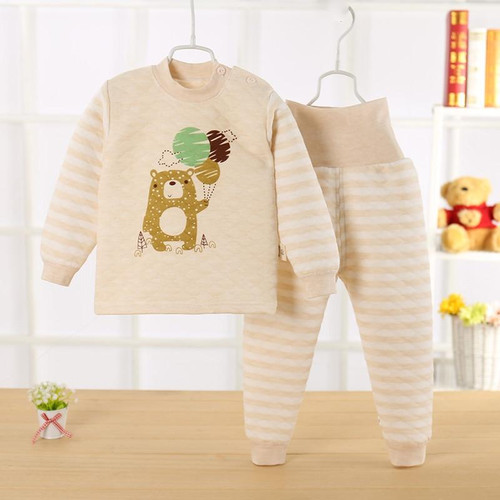 Boys girls toddler christmas Winter Warm clothes children clothing set pyjama enfant children's pajamas kids thermal underwear - Joelinks store
