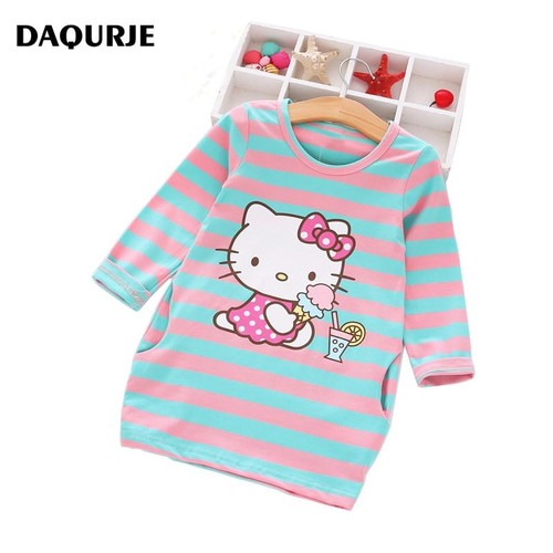 2019 Girls Dress Cartoon Kids Dresses For Girl Clothes 2-8Y Baby children clothing Vestidos Costume Roupas Infantis Menina - Joelinks store