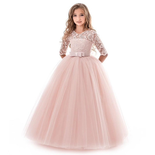 Summer Girl Lace Dress Long Tulle Teen Girl Party Dress Elegant Children Clothing Kids Dresses For Girls Princess Wedding Gown - Joelinks store