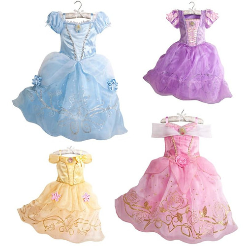 2019 Girls Summer Dress Kids Cindrella Snow White Cosplay Costume Baby Girl Princess Dress Rapunzel Aurora Belle Dress Vestidos - Joelinks store
